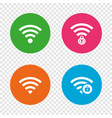 wifi wireless network icons wi-fi zone locked vector image