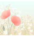 Wild poppies vector image