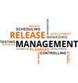 word cloud - release management vector image vector image
