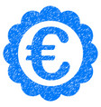 euro quality stamp grunge icon vector image