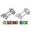 Jumping or flying cat Coloring book vector image