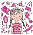 sweet girl vector image