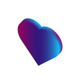 3d isometric love symbol pink and blue gradient vector image vector image