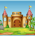 a castle tower in nature vector image vector image