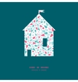 abstract colorful drops house silhouette vector image vector image