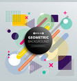 abstract of colorful geometric pattern background vector image