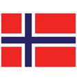 accurate correct norwegian flag of norway vector image vector image
