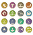 Billiards simply icons vector image vector image