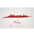 Billings skyline in red vector image