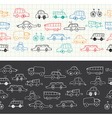 Car banners doodles set vector image vector image