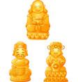 cartoon buddha collection set vector image