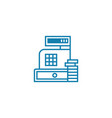 cash proceeds linear icon concept cash proceeds vector image