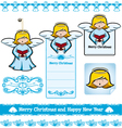 christmas angel set vector image vector image