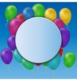 circle banner on party background vector image