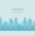 city landscape background - poster with downtown vector image vector image