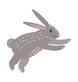 cute rabbit animal trend cartoon style vector image