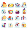 deadline flat icons vector image