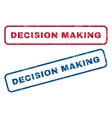 Decision Making Rubber Stamps vector image vector image