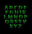 dotting halftone green neon font vector image