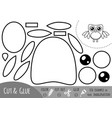 education paper game for children owl vector image vector image