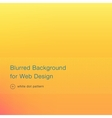 Elegant yellow blurred background for web design vector image