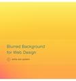 elegant yellow blurred background for web design vector image vector image