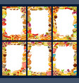 fast food menu frames of burgers and snacks vector image vector image