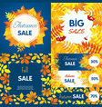 final autumn sale banner set flat style vector image vector image