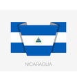 Flag of Nicaragua Flat Wavering Icon vector image vector image
