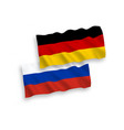 flags of germany and russia on a white background vector image vector image