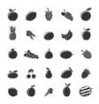 flat fruit set vector image vector image