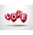 Flying balloons concept of LOVE for celebrating vector image vector image