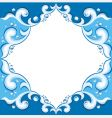 frame with aqua design vector image