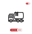 fuel truck icon vector image