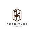 furniture logo design template vector image vector image