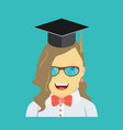 graduating young woman vector image vector image