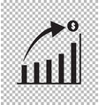 graph icon in trendy flat style isolated on vector image