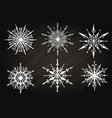 hand drawn snowflake on chalkboard vector image vector image