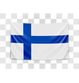 hanging flag finland republic finland vector image vector image