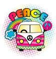 hippie bus vector image vector image