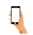 holding a cell mobile phone vector image vector image