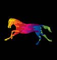 horse running cartoon graphic vector image