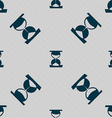 hourglass icon sign Seamless pattern with vector image vector image