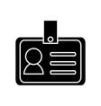 id card corporate personal identity company icon vector image