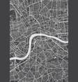 london city plan detailed map vector image vector image