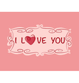Love heart copy vector image vector image
