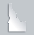 Map of Idaho vector image vector image