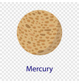 mercury planet icon flat style vector image vector image