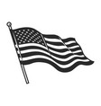 monochrome american flag template vector image vector image