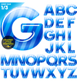 Multicolor children candy alphabet vector image